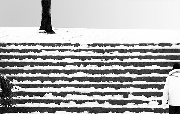 No. 54 Stairs-and-snow